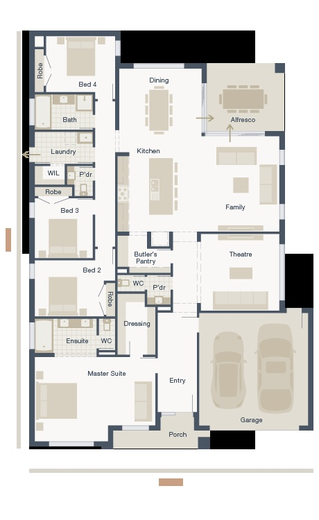 MainVue Floor Plan - Amalfi Series