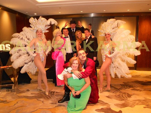 Hollywood themed entertainment including vintage Director MC to welcome the guests and make them feel like super stars, Marilyn Monroe lookalike & singer and stunning show girls.    Tel: 020 3602 9540 http://www.calmerkarma.org.uk/