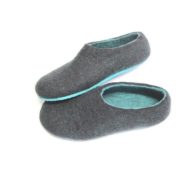 Mens Felt Slippers in Charcoal Black Felt Forma cVJ1grVY7