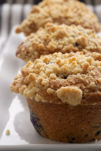 Blueberry Crumb Muffins by BakeorBreak.com ~ The most amazing blueberry muffins ever!