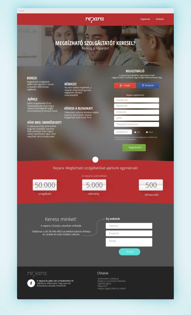 Rating site mainpage design. Repara project. #rating #design #ui