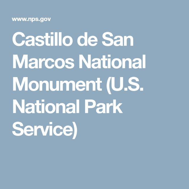 Castillo de San Marcos National Monument (U.S. National Park Service)
