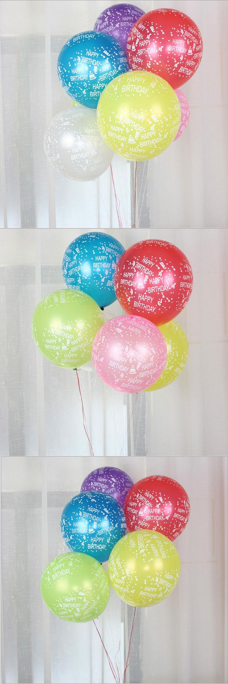 [Visit to Buy] 10 pcs/lot 12 Inch Colorful Happy Birthday Latex Balloons Birthday Party Decoration Kids Cheap Latex Balloons Party Suppliers #Advertisement