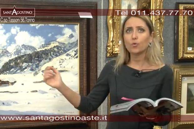 Lunedì 18 marzo 2013 avrà luogo la I tornata della 121^ asta della casa d'aste Sant'Agostino di Torino, nel video la presentazione dei dipinti più significativi, andata in onda su Canale Arte.