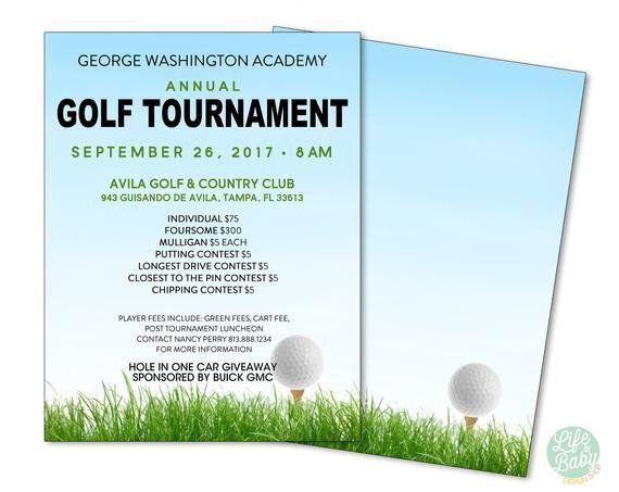 Golf Tournament Flyer Template Golf Tournament Flyer Template School Golf Tournament Poster Flyer Template Flyer Flyer Design Templates
