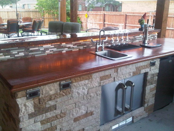 17 best images about projects to try on pinterest diy for Diy outdoor bar top