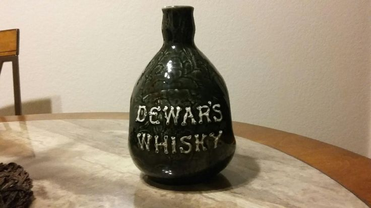 Vintage Dewar's Whisky Centennial 100 year Anniversary Bottle- Collectible Scotch Whisky Flagon 1886-1986 from J.D. & S Scotland 80s 1980's by TrueAmericanPicker on Etsy