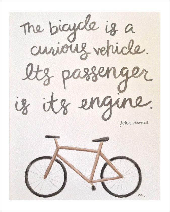 bicycle quote | amy zhang design