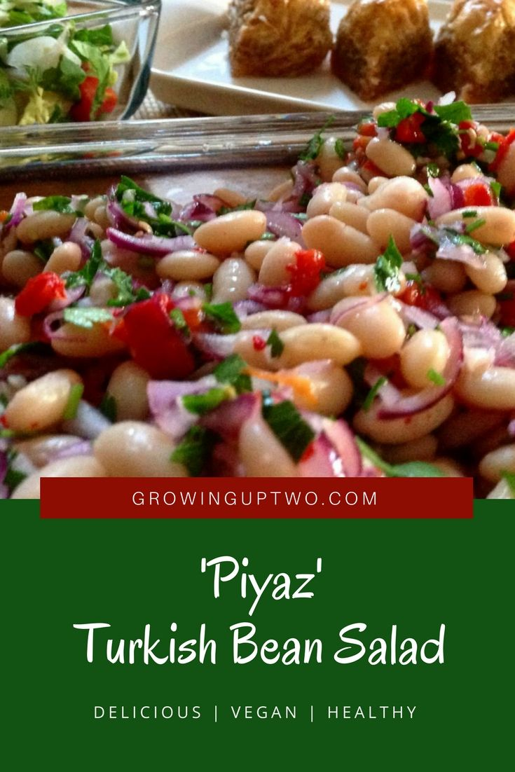 Turkish Bean Salad or piyaz as it's known locally, is a great, easy to rustle up side dish traditionally served as a side to grilled meat or as a meze. A vegetarian dish, the flavour combination is quite unique and something sure to impress friends with a love for Turkish food.
