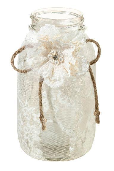 shabby chic wedding jar idea