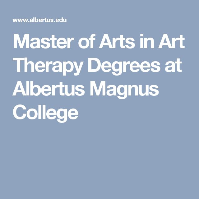 Master of Arts in Art Therapy Degrees at Albertus Magnus College