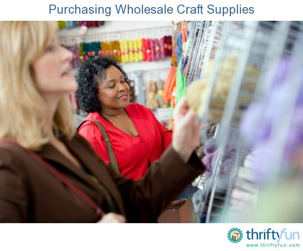This is a guide about purchasing wholesale craft supplies. The cost of crafting supplies can get to be quite high if you are an avid crafter or have a home based crafts business.
