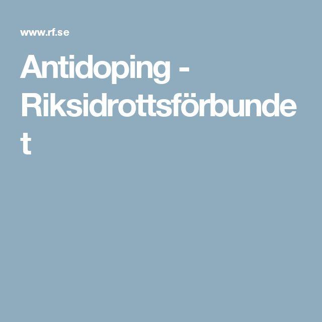 Antidoping - Riksidrottsförbundet