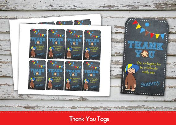 Curious George Thank you Tags Curious George by DebsPrintables