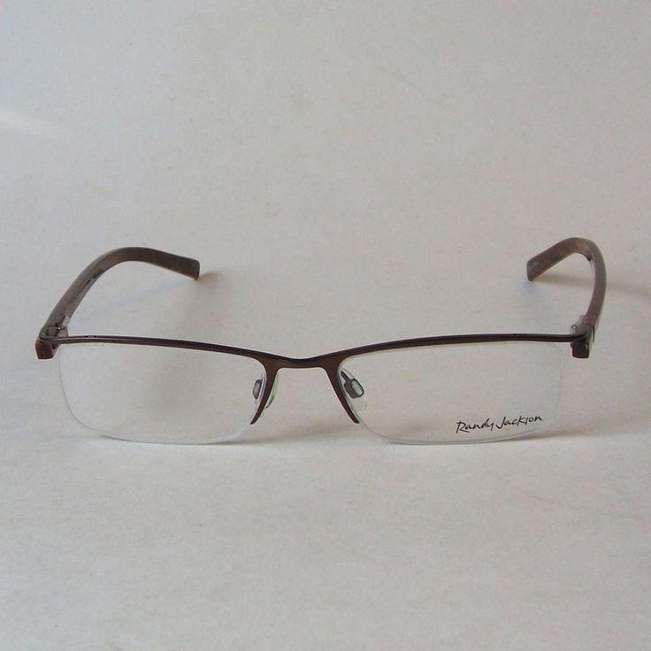 Randy Jackson Unisex Eyeglass Frames RJ 1002 Zyloware Semi Rimless Spring Hinges #RandyJackson