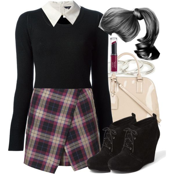 Lydia Martin Inspired Outfit with Requested Skirt by veterization featuring a black sweater