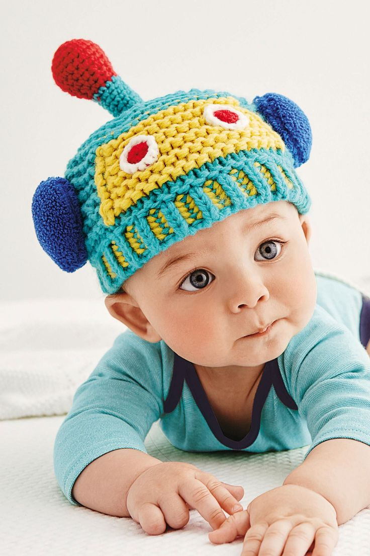Buy Green Robot Knit Hat (0-18mths) from the Next UK online shop