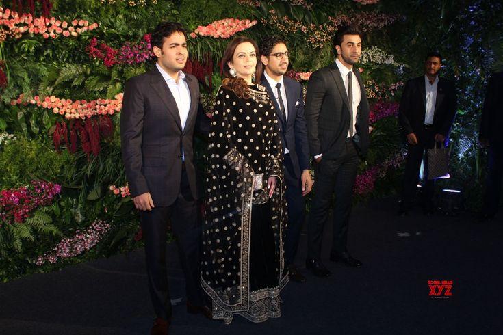 Mumbai: Virat Kohli  Anushka Sharma's wedding reception  Nita Ambani, Akash Ambani, Ranbir Kapoor and Ayan Mukerji - Social News XYZ