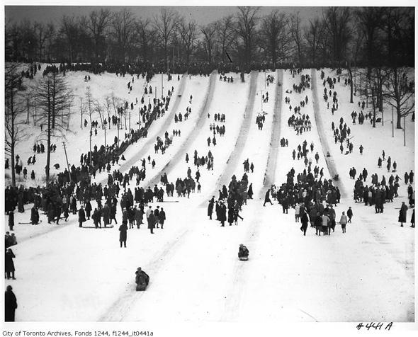 Old school High Park tobogganing in Toronto. #winter