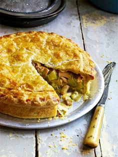 Debbie Major's comforting chicken pie recipe is made with a creamy filling and a quick and easy-to-make flaky pastry.