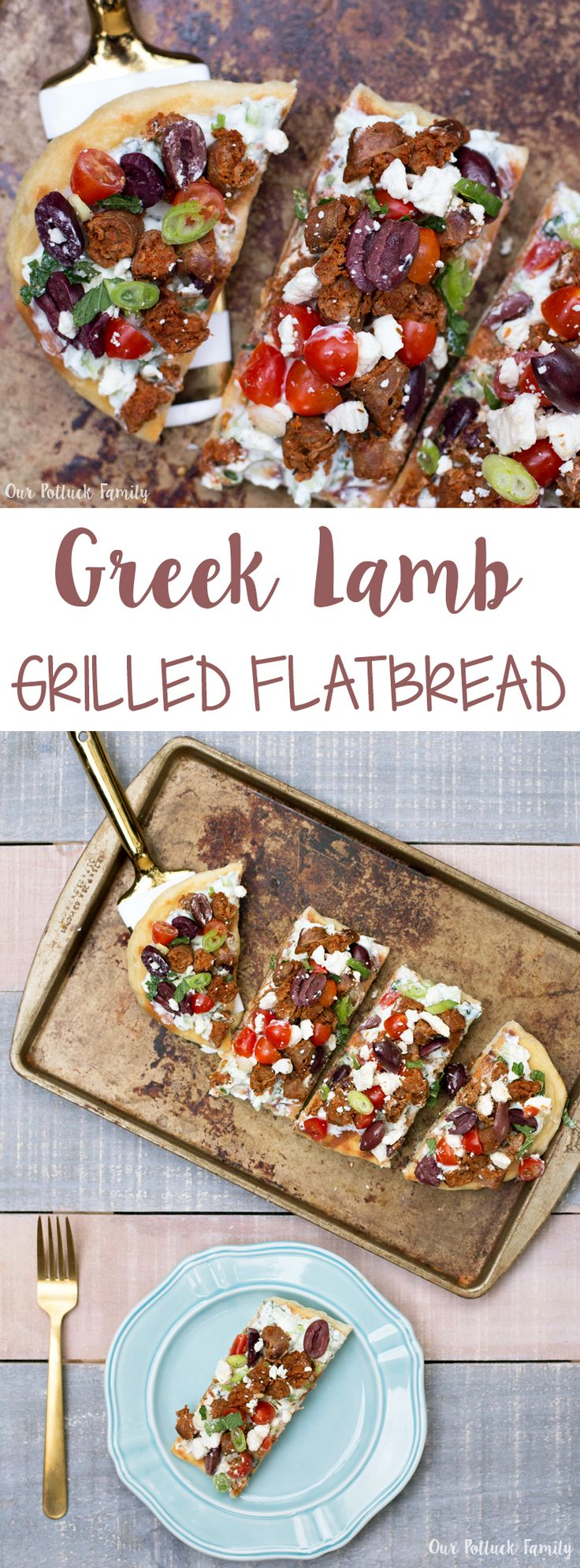 Greek Lamb Grilled Flatbread #MyNutrishPeak #ad