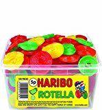 Boite de 120 bonbons Haribo Rotella rouleaux aux fruits 960g kit de fête anniversaire enfant végétarien