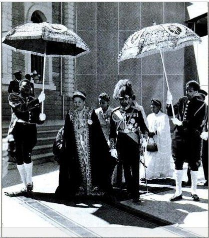Emperor Haile Selassie and Empress Menen on their Silver Jubilee