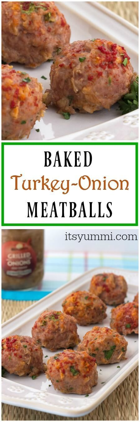 These baked turkey meatballs from @itsyummi are perfect as an appetizer OR as part of a main dish!