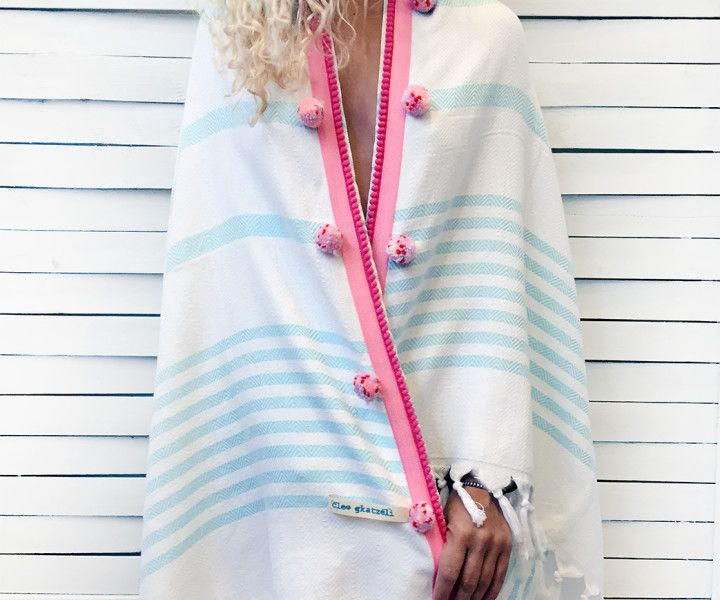 SHOWER CAPE beach peshtemal- white | Cleo Gatzeli  http://www.cleogatzeli.com/product-category/beachtowels/peshtemals/page/2/