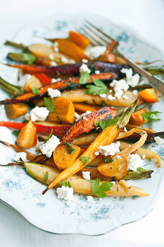 Roasted Carrot & Beet Salad with Feta – recipe published in A New Turn in The South by Hugh Acheson