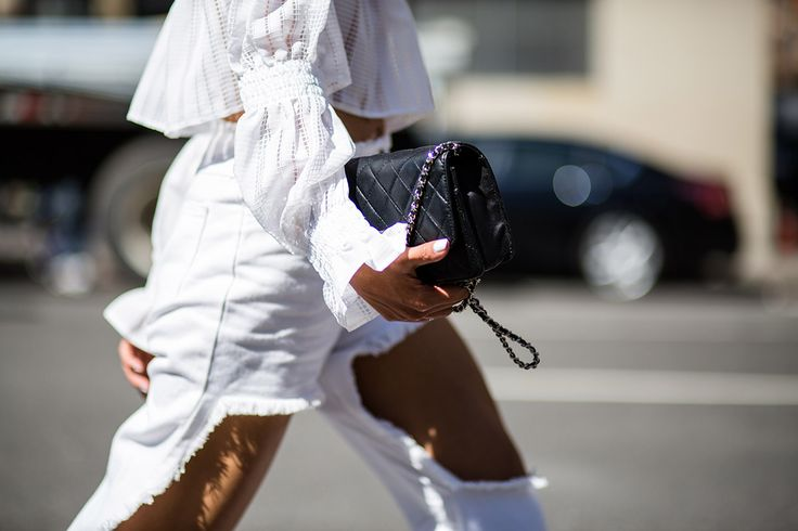SS16 streetstyle detail  cropped white jeans  white romantic shirt