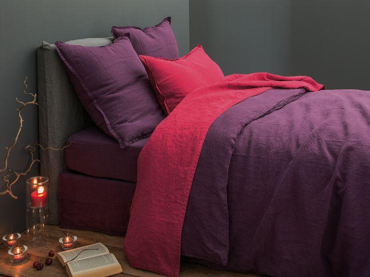 28 best linge de lit lin images on pinterest bedding comforters and duvet covers. Black Bedroom Furniture Sets. Home Design Ideas