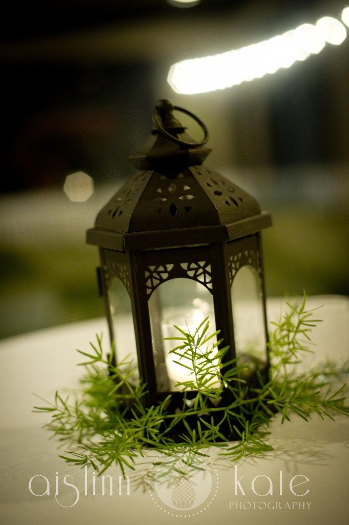 Lantern centerpieces years counting th wedding