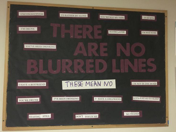 Consent Blurred Line Resident Advisor RA college Bulletin Board