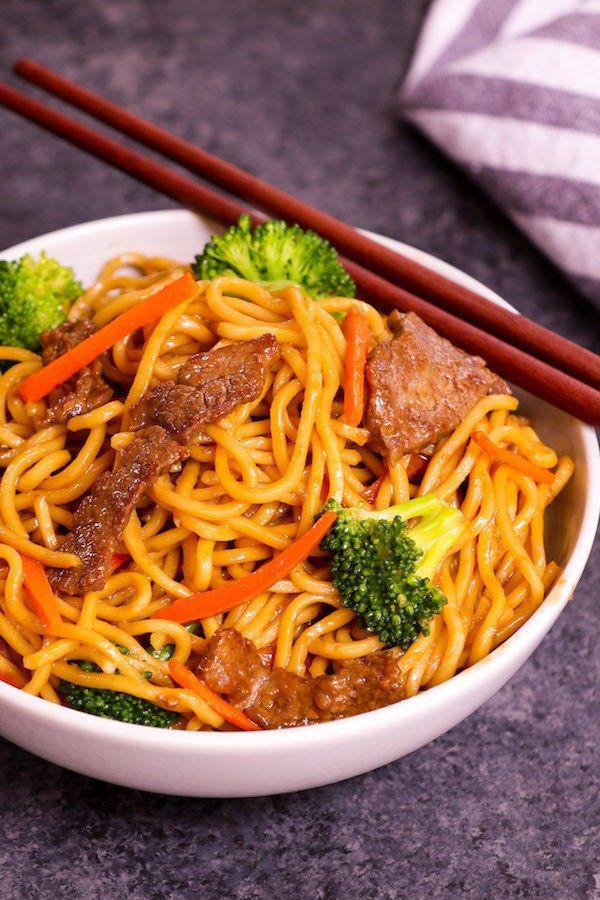 Beef Lo Mein Recipe Lo Mein Recipes Garlic Beef