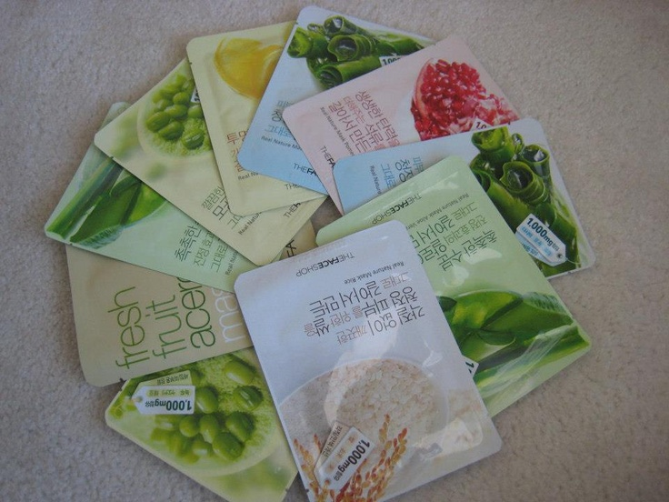 the Faceshop's face mask