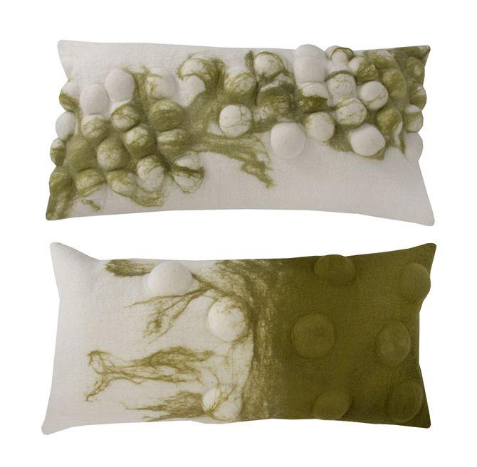 Peta-Lee felt bubble design cushions
