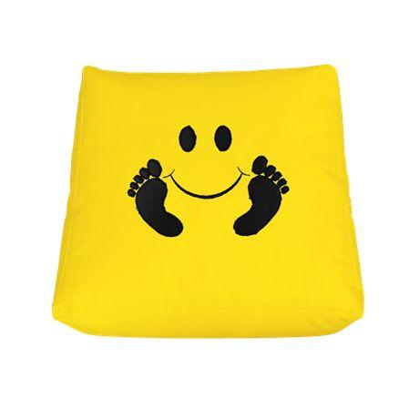 Πουφ Μαξιλάρι 60 x 60 Smile#Πουφ Poofomania #bean bag#kentima#pouf#poof#