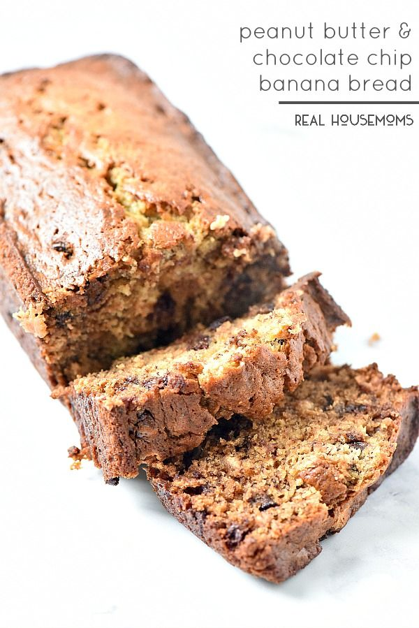 Peanut Butter and Chocolate Chip Banana Bread is the ultimate comfort ...