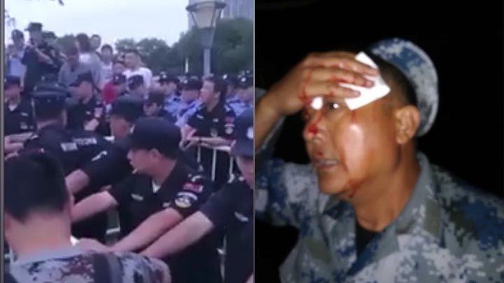 江蘇鎮江市退役老兵集體在市政府前維權示威事件,仍未解決。有老兵指,連日行動期間,都有身份不明人士入夜後到場搞事,並襲擊在場老兵。各地老兵紛紛趕到鎮江市聲援。昨晚至今日凌晨,鎮江市調集近幾千特警,採用暴力打傷多名現場聲援的老兵,當局還將現場無線訊號屏蔽,以圖阻斷老兵向外發佈消息。...