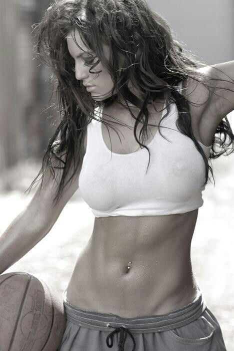 I don't want a six pack, I don't even want a 4 pack.. I just want the start of two abs and the lines on the side. I don't like the super muscular girl look!! This is perf!