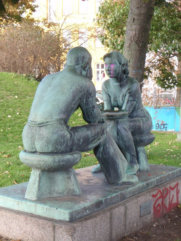 Copenhagen, Denmark statue.