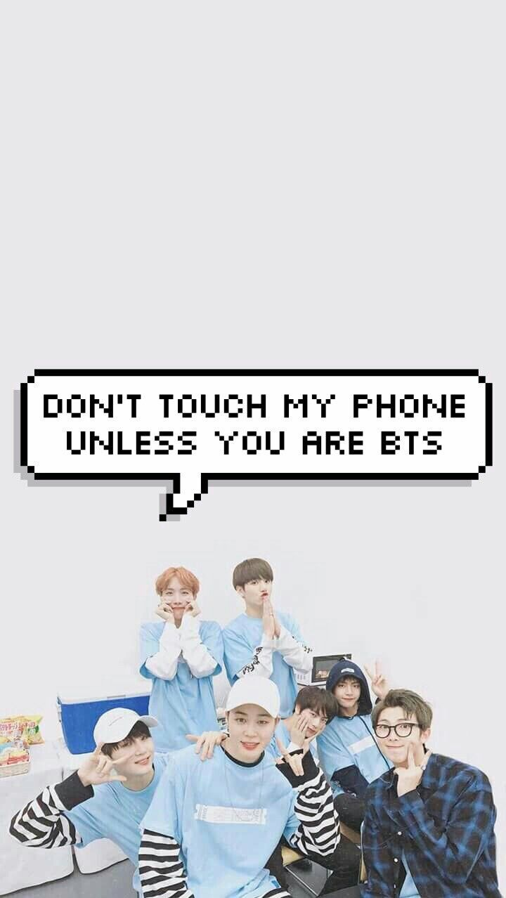 Bubble Message Don T Touch My Phone Bts Version Repinned