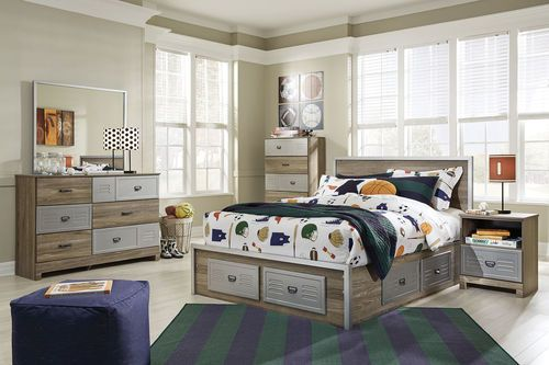 The Mckeeth Multi Kids 3 Pc Full Captain Bedroom Collection By