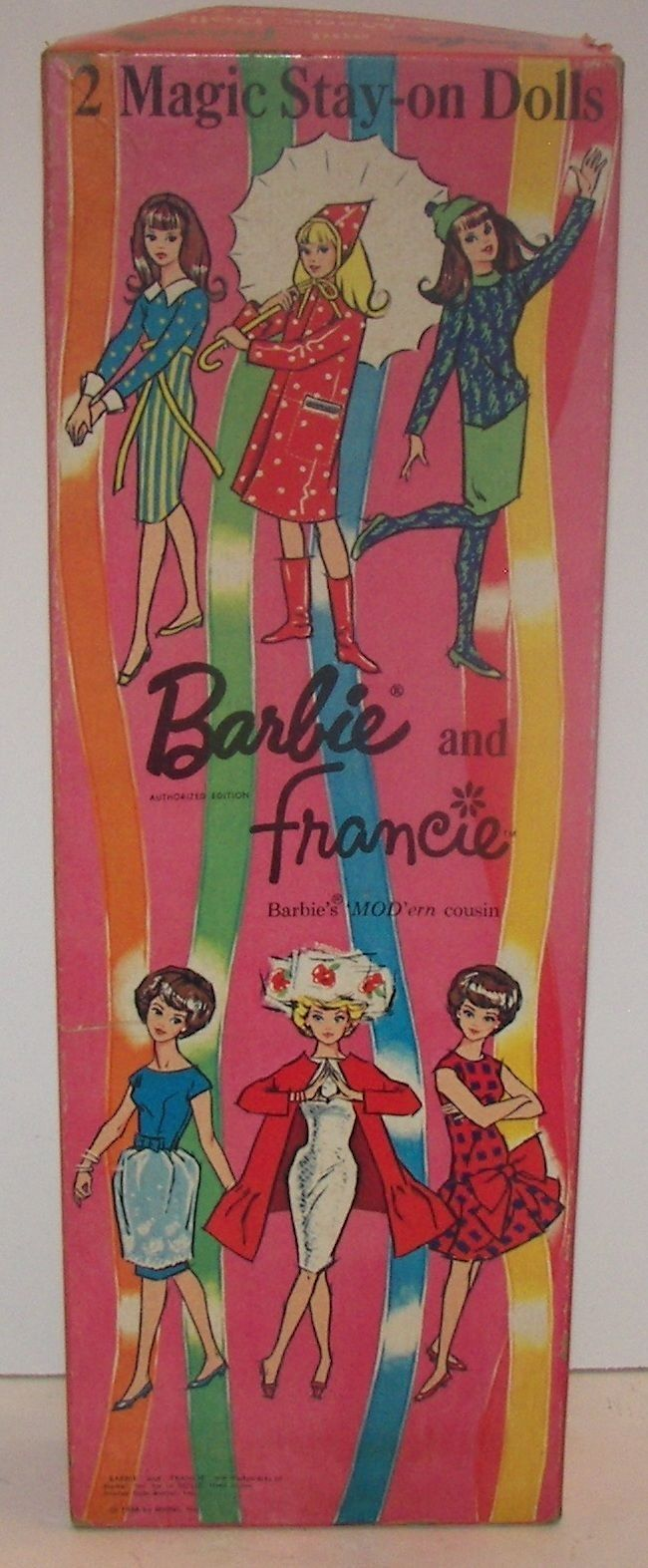 Whitman hot wheels coloring book - Whitman Barbie And Francie Magic Stay On Dolls
