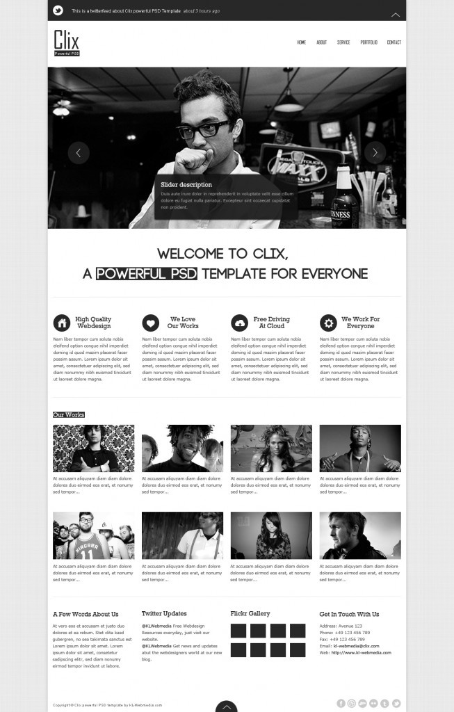 Clix powerful PSD template