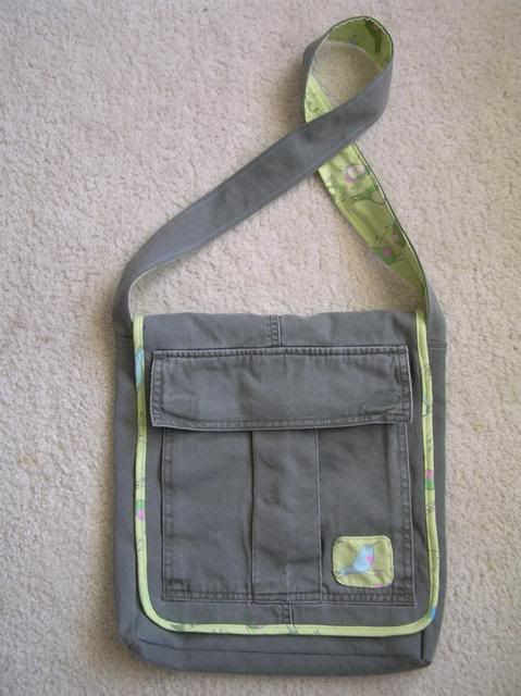 Recycled cargo pants bag