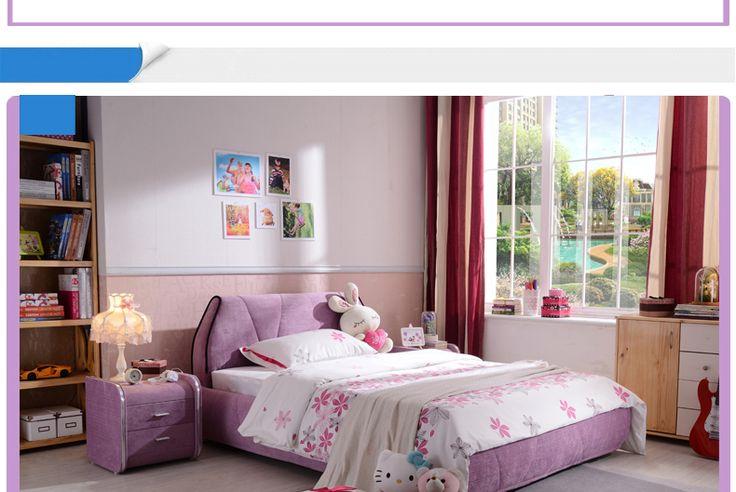 Детская розовая кровать в интерьере комнаты с тумбой в комплекте купить в интернет-магазине https://lafred.ru/catalog/catalog/detail/39629496117/