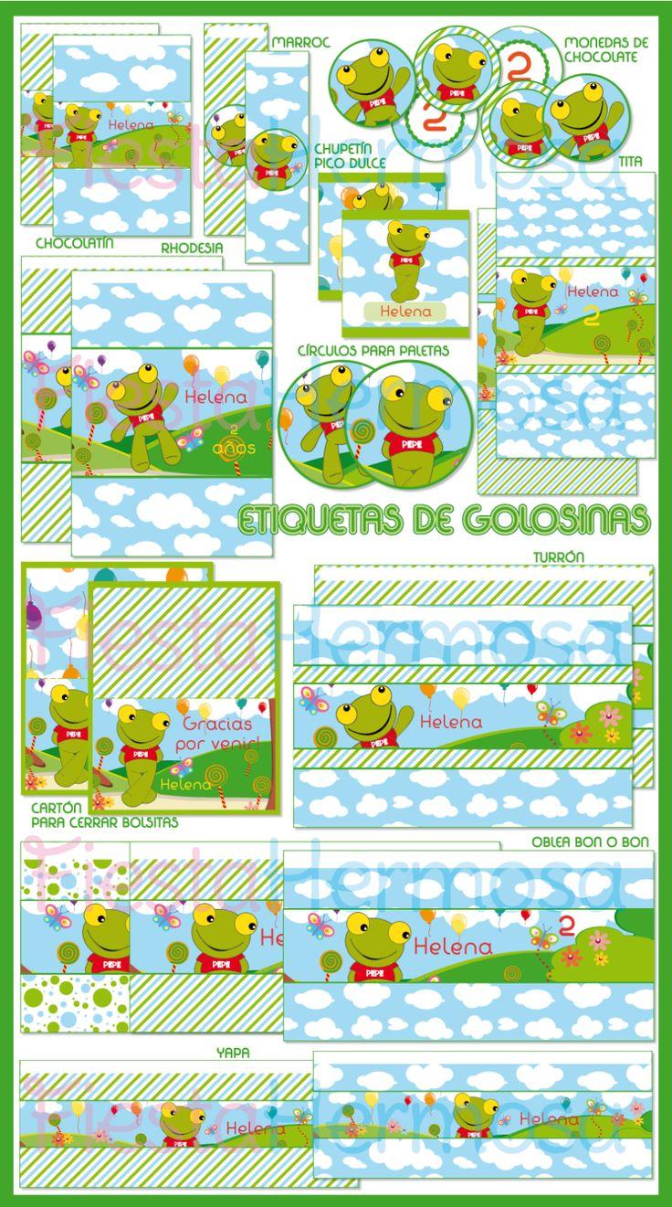 Kit Imprimible Sapo Pepe,invitaciones,golosinas,completo!!! $ 89.0 - FiestaHermosa
