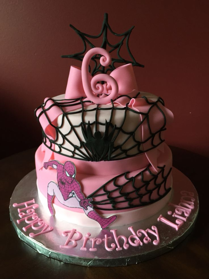 17 Best Images About Spider Girl Cakes On Pinterest